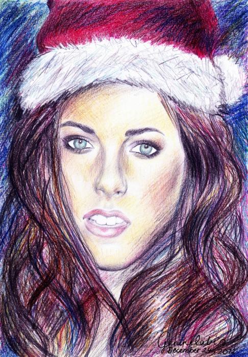 Santa Claus, Kristen Stewart by genierocksuk